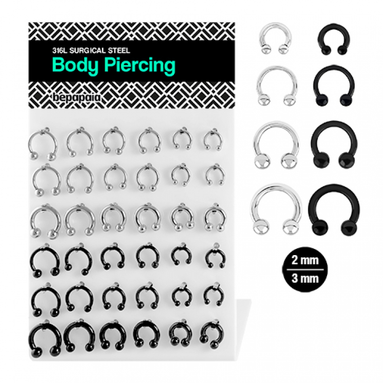 Piercing septum CBB de acero 2-3 mm