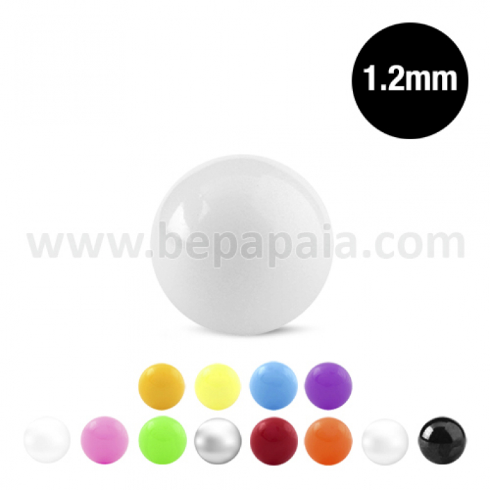 Boule en acrylique couleurs assorties  1.2mm