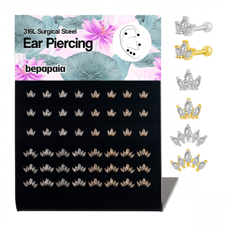 316L Surgical Steel ear piercing marquise