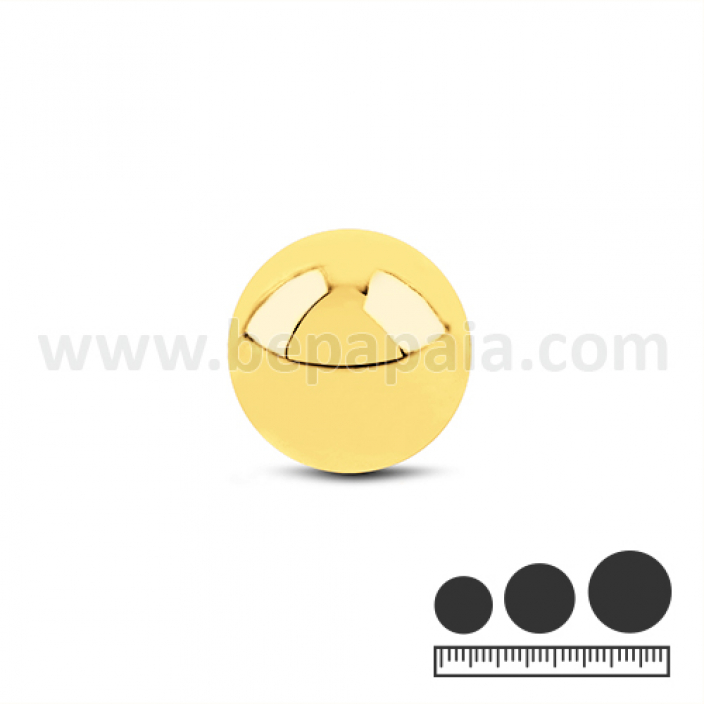 Gold stainless steel ball