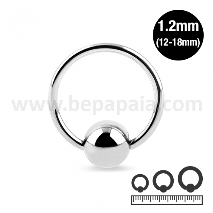 Stainless steel ball closure ring 1.2mm