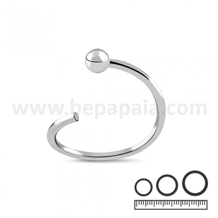 Stainless steel flexible ring 1 side bead 0.8 & 1.0mm