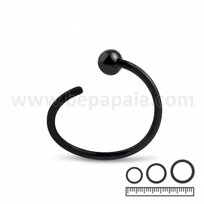 Black steel flexible ring 1 side bead