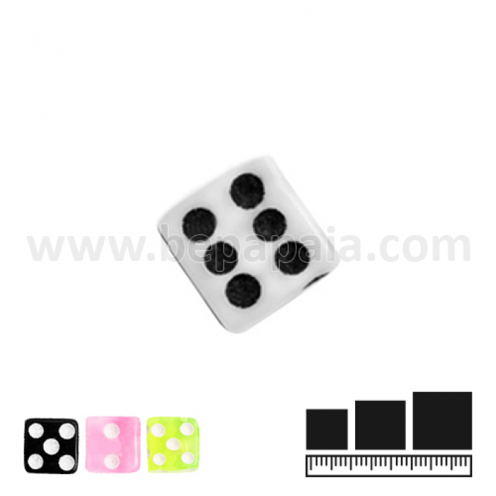 UV dice balls assorted colors 1.2x3mm
