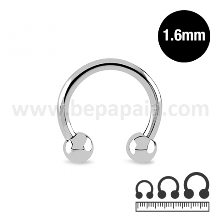 Stainless steel circular barbell 1.6mm