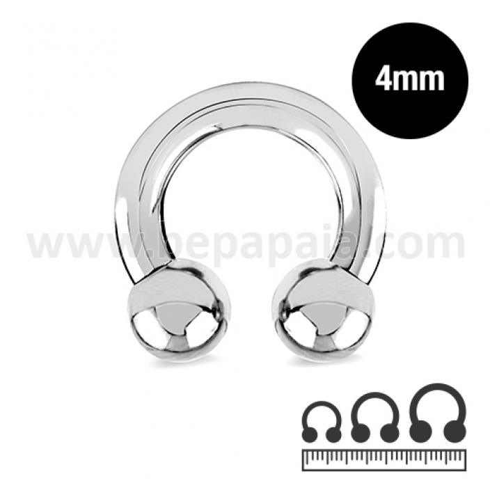 Stainless steel circular barbell  4mm