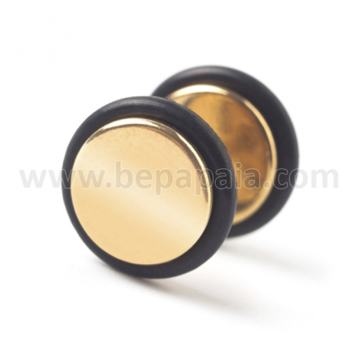 Gold steel fake plug