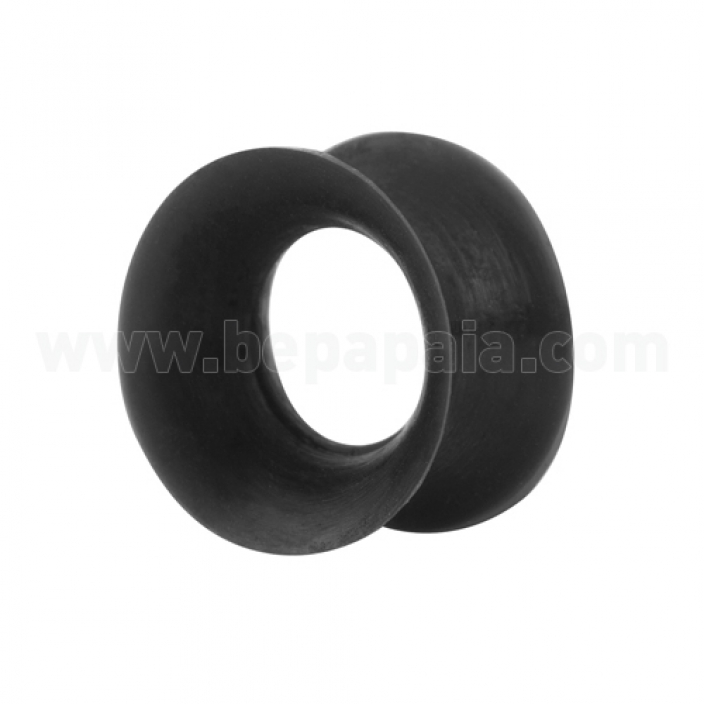 Black silicon flesh tube double flared