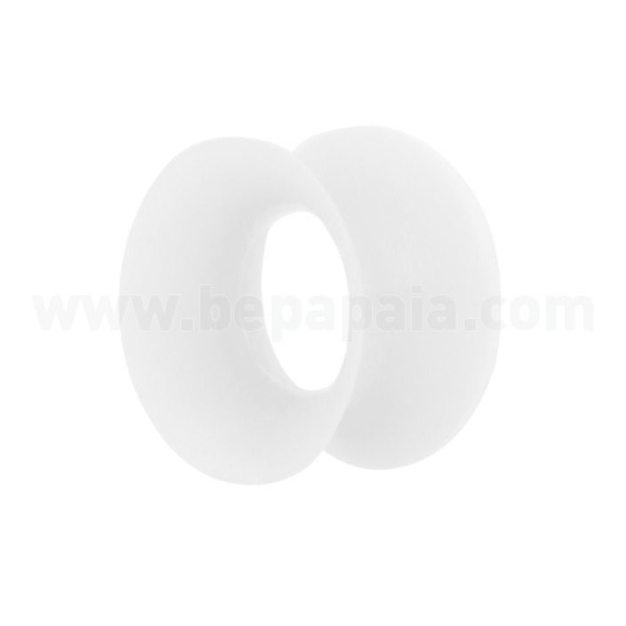 White silicon flesh tube double flared