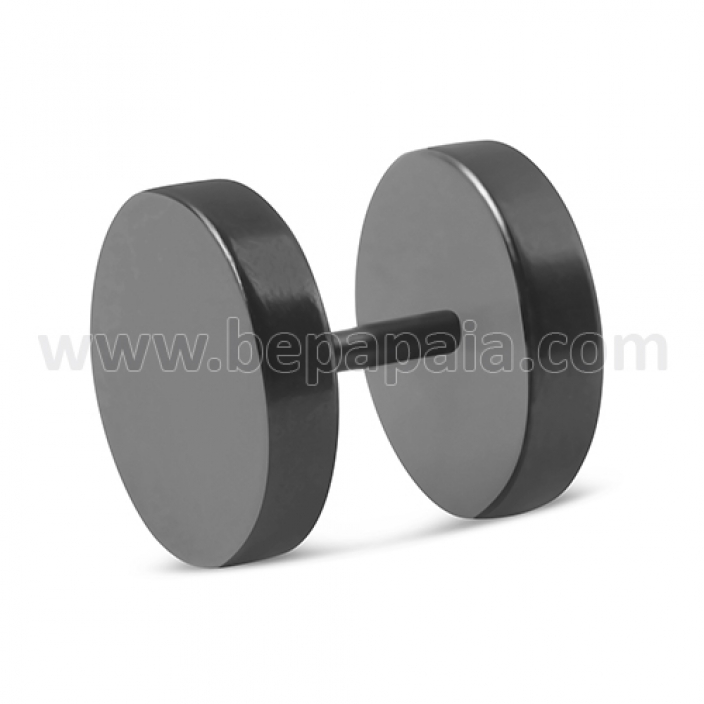 Black steel fake plug no o-ring