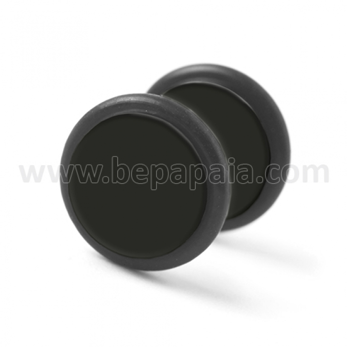Black acrylic fake plug