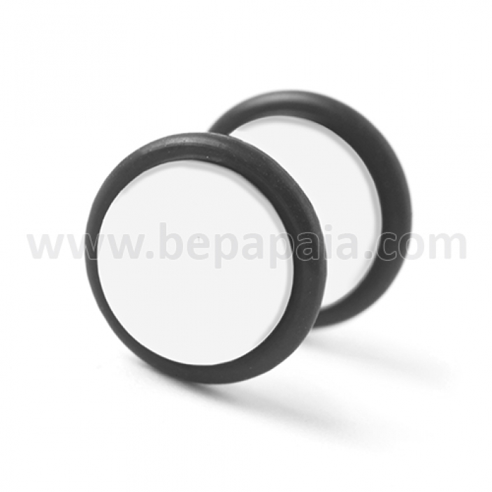 White acrylic fake plug