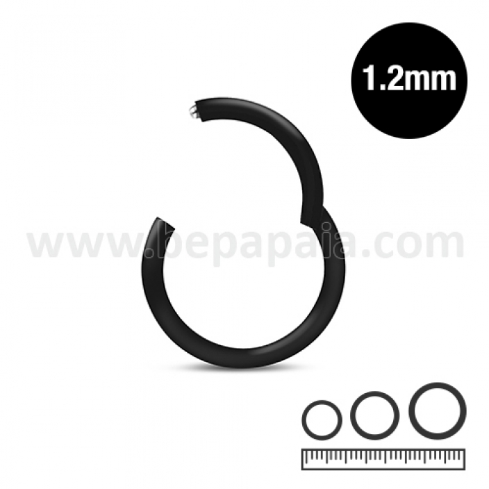 Black steel hinged septum 1.2mm