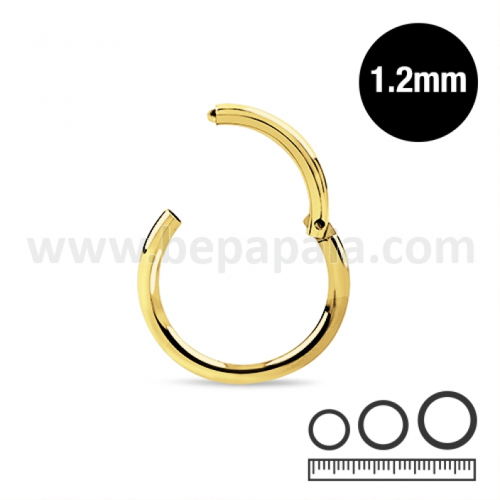 Gold steel hinged septum 1.2mm