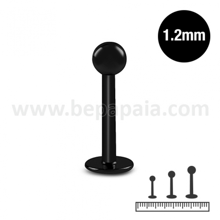 Black steel labret 1.2mm