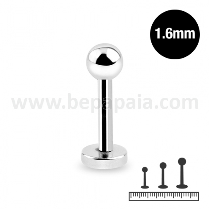 Stainless steel labret 1.6mm