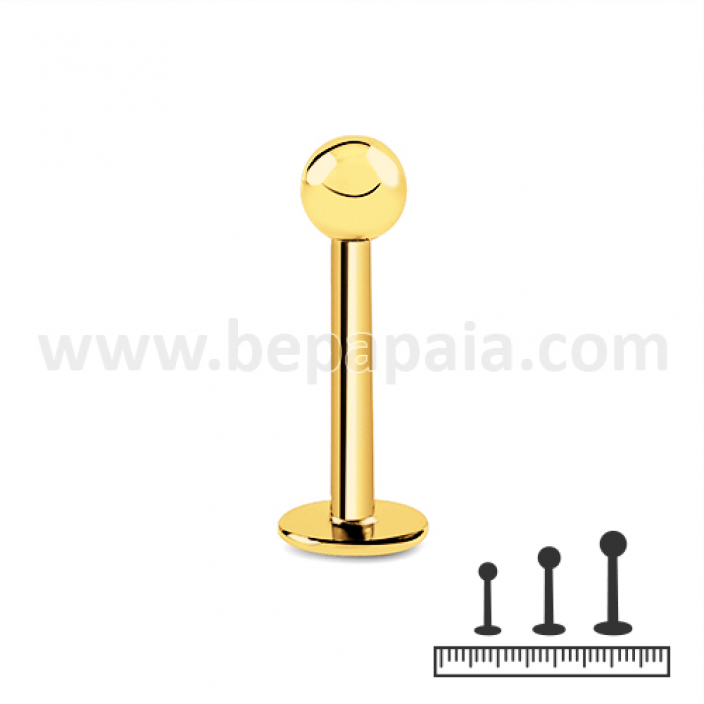 Gold steel labret 1.2mm