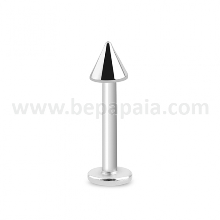 Stainless steel labret with cone 1.2mm