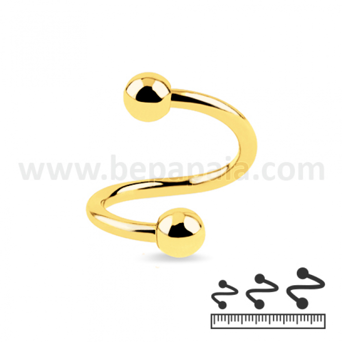 Gold steel spiral 1.2mm