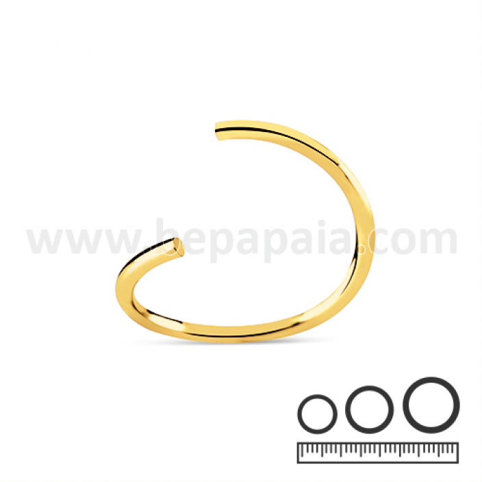 Gold steel flexible ring 0.8, 1.0, 1.2mm