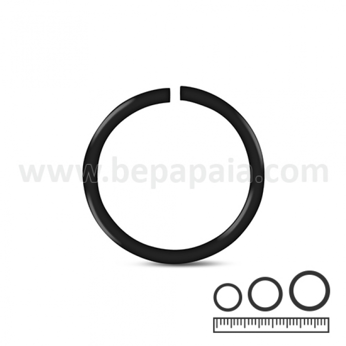 Black steel flexible ring 0.8, 1.0, 1.2mm
