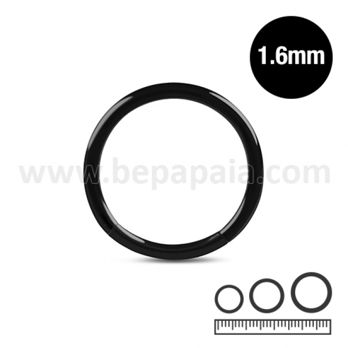 Black steel segment ring 1.6mm