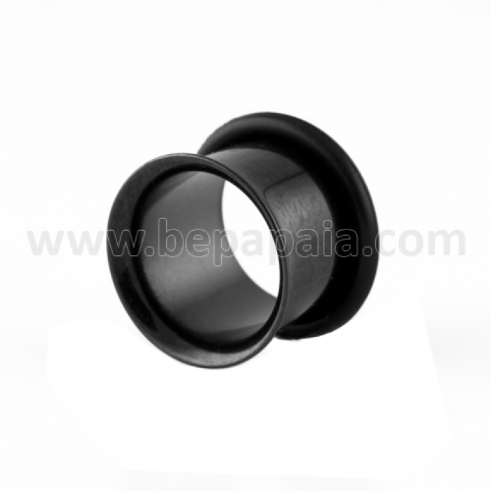 Black steel flared flesh tube
