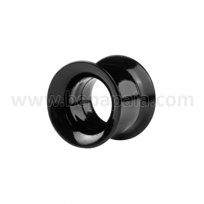 Black acrylic flesh tube internally threaded