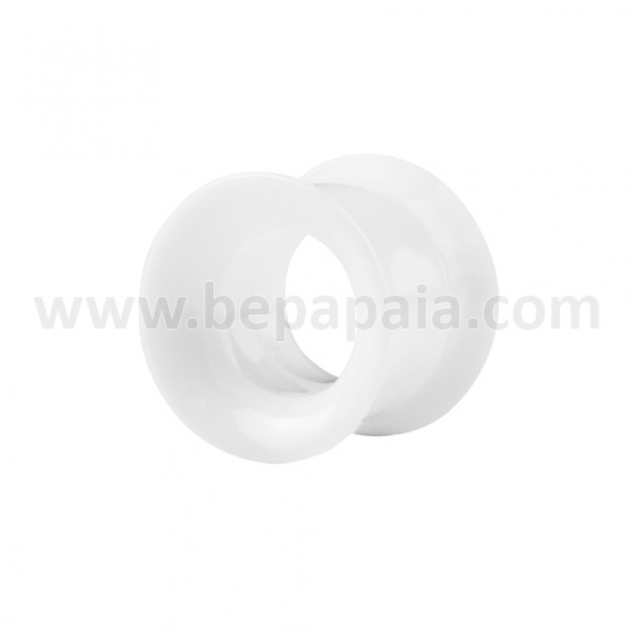 White acrylic flesh tube internally threaded
