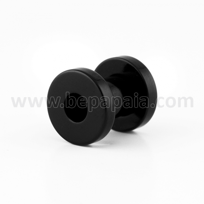 Black acrylic flesh tunnel