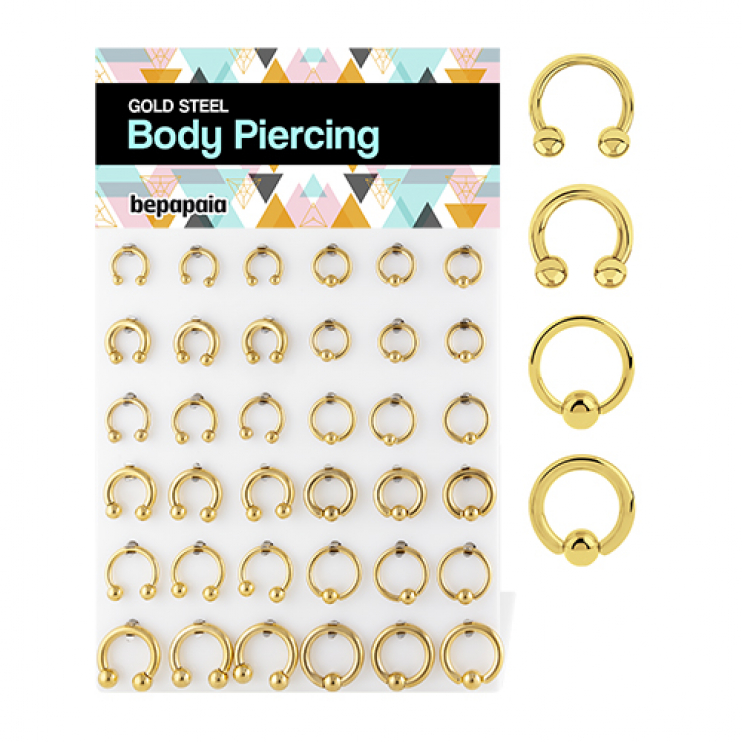 Gold steel Septum