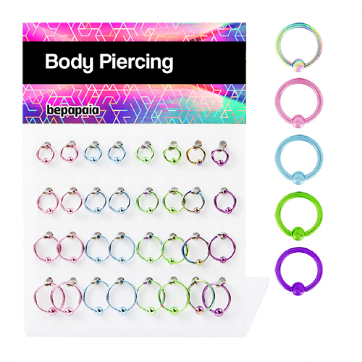 Ball closure ring anodized colours