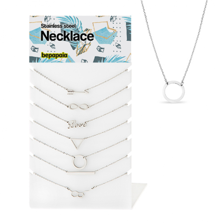 Stainless steel necklace assorted designs