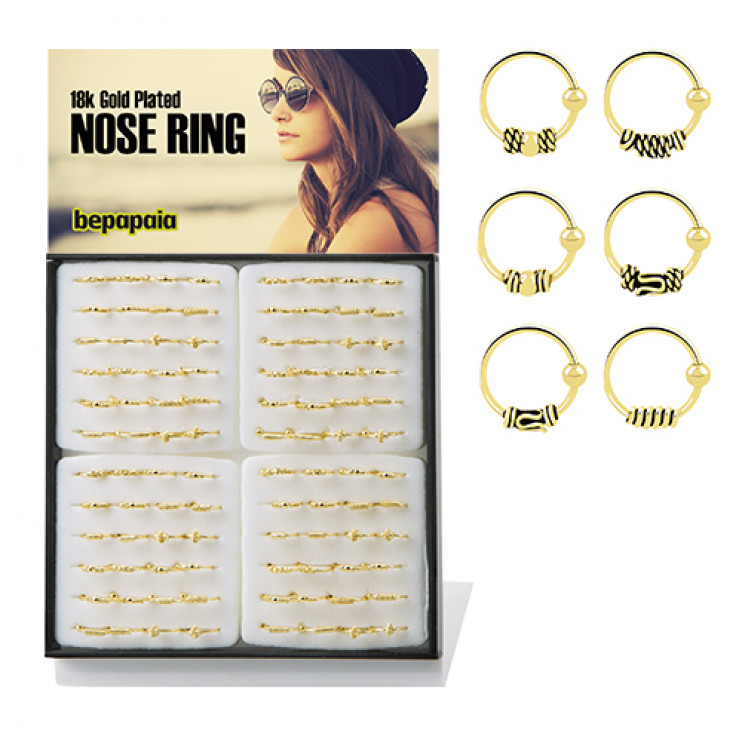 Gold plated bali nose rings