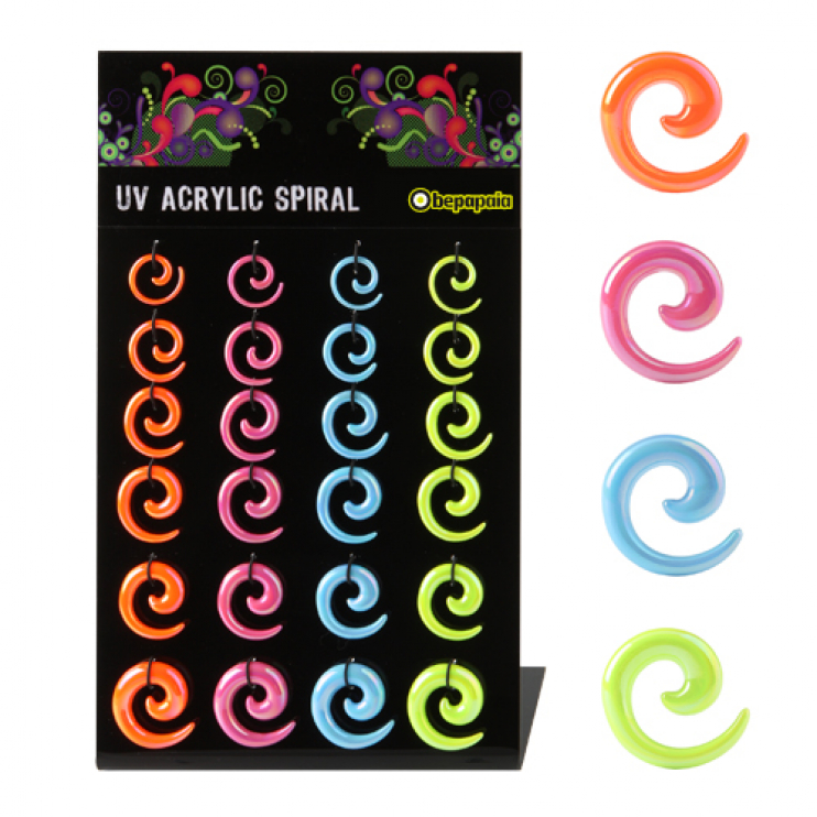 Acrylic spiral expander pearl colours