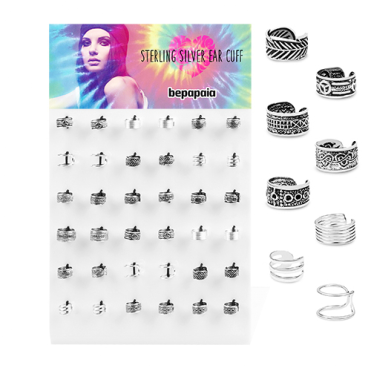 Silver fake cartilage earring