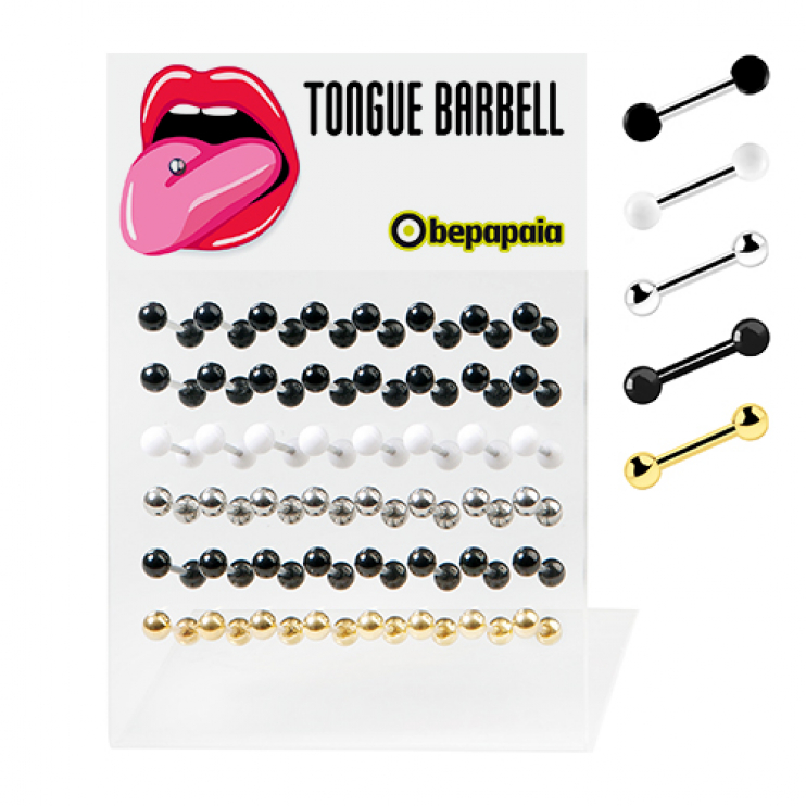 Tongue barbell plain colours