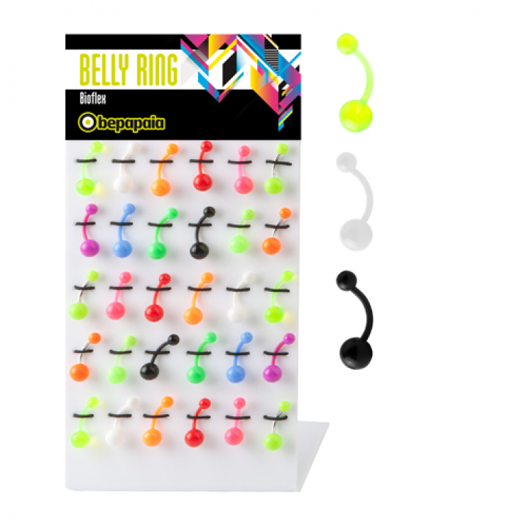 Bioflex belly ring mix colours