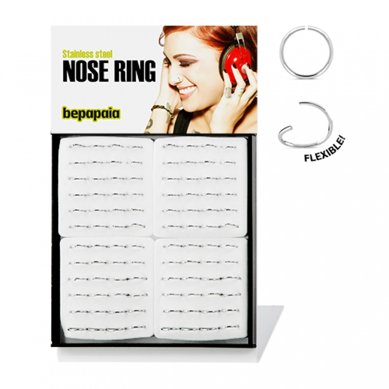 Stainless steel flexible nose ring