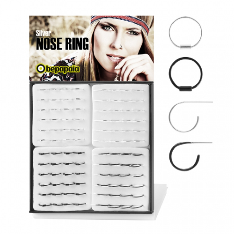 Silver nose ring mixed models