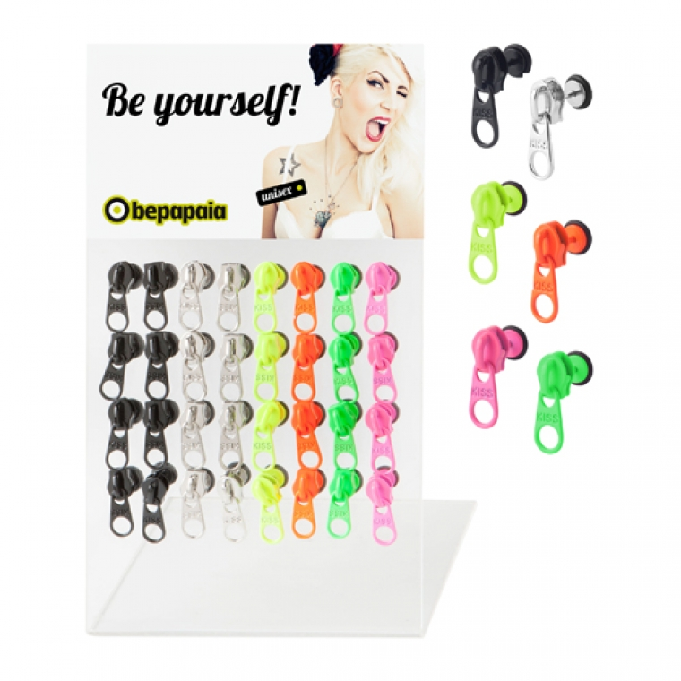 Fake Plug Zipper Shape Neon Colors