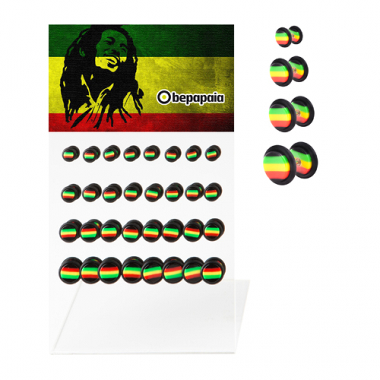 Fake Plug Rasta Design