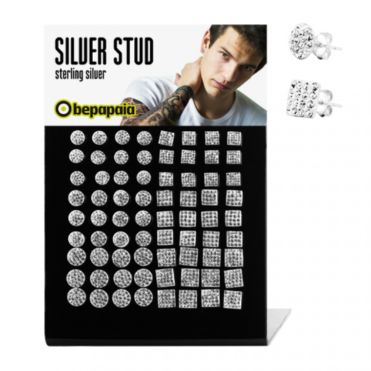 Silver studs ferido elements crystals sq&rd