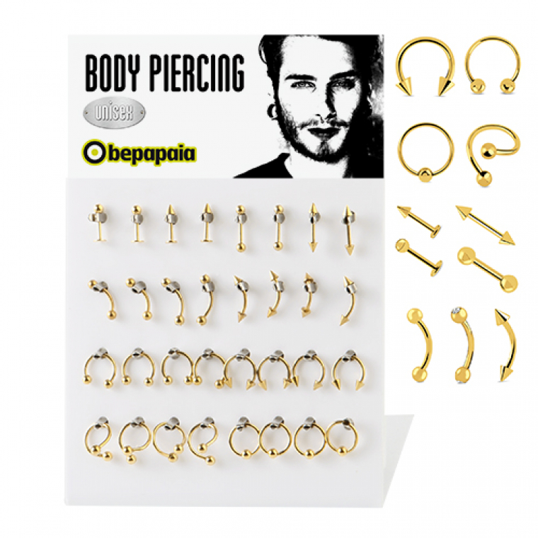 Gold steel mix piercing