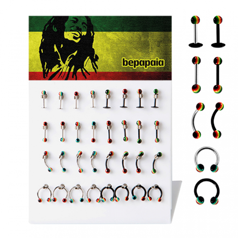 Piercing rasta mix