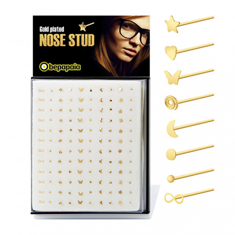 Gold plated nose studs