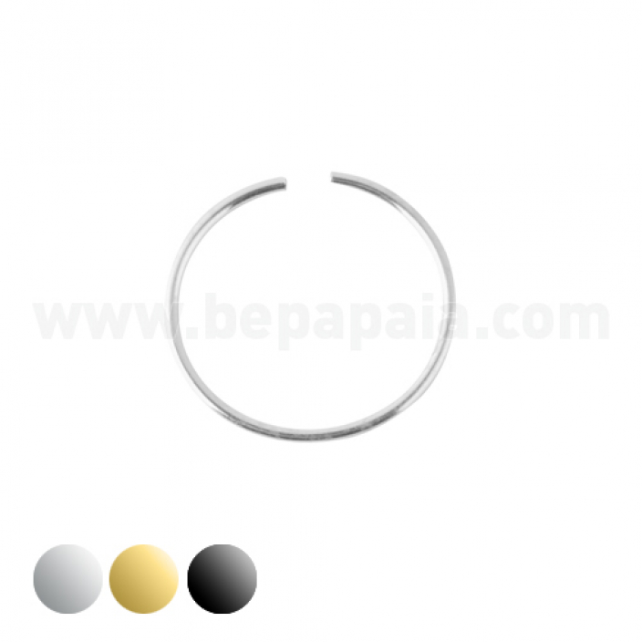Piercing naso d'argento. Mix 8 e 10mm