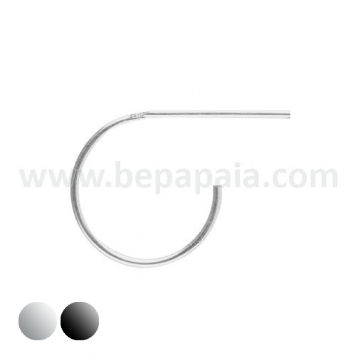 Piercing naso d'argento ¨bend it yourself¨. Mix 8 e 10mm