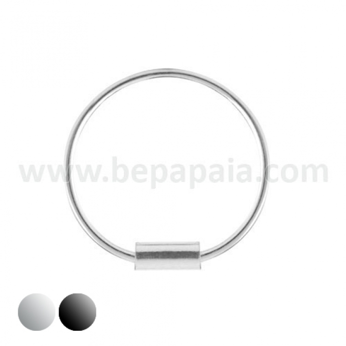 Piercing naso d'argento con chiusura a filettatura interna. Mix 8 e 10mm