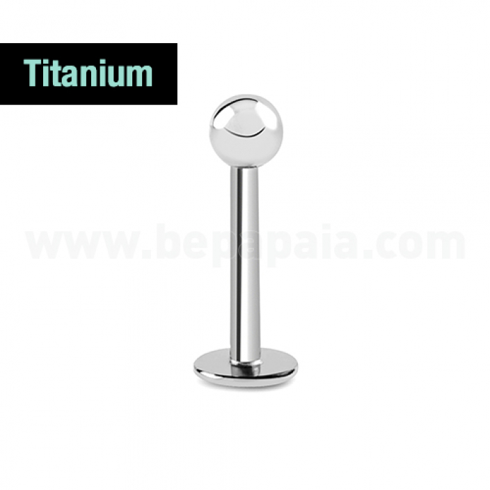 Labret in titanio G23  1.2 mm